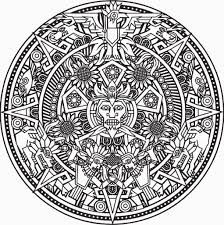 Printable Aztec Calendar Coloring Pages Printable For Aztec Coloring