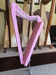 Lever Harp Key Chart Fullsicle Harp Pink Stain Ready To Ship Harpsicle Harps