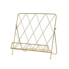 image of gold book stand