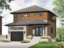 Modern House Plans    Story Contemporary Home Plan fits Narrow    Modern House Plan  H