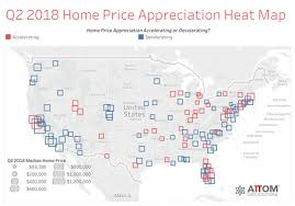 Historical Real Estate Appreciation Chart U S Median Home Price Appreciation Decelerates In Q2 2018