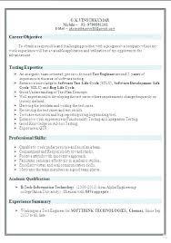 Qa Tester Resume Samples Free Resume Template Evacassidy Me