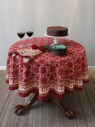 red tablecloth holiday tablecloth decorative tablecloth 90 round tablecloth 70 round tablecloth saffron marigold