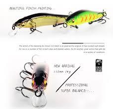 2018 Bearking Brand W01 Hard Fishing Lures <b>Minnow 11cm 14g</b> ...