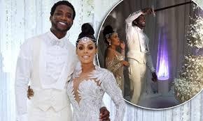 Gucci Mane And Keyshia Kaoir Reveal 75k Wedding Cake Daily Mail