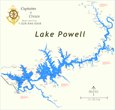 map of lake powell  captains and crews