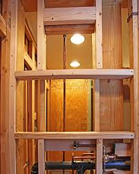 double shower niche framing