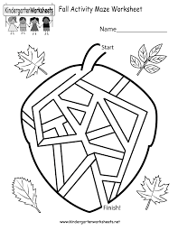 fall activity maze worksheet printable free kindergarten fall worksheets worksheets for a beautiful on free printable grammar worksheets