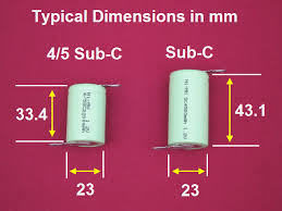 Sub C Cell Size Dimensions Details Info Type