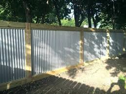 corrugated metal fence. Contemporary Fence Wood Metal Fence Corrugated And Best  Ideas On Regarding Fencing In Corrugated Metal Fence