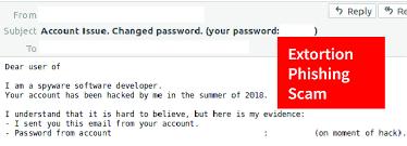 Phishing Scam Extortion Phishing Wide Ranging Email Attacks Landing In