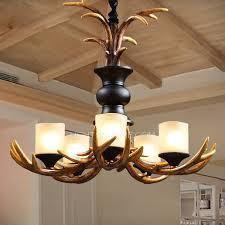 resin 5 light antler chandeliers 23 6