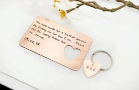 Wedding Gift Heart Card With Message From Father To Bride And Groom