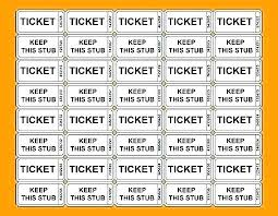 Raffle Ticket Template Publisher Sample Ticket Template Emailers Co