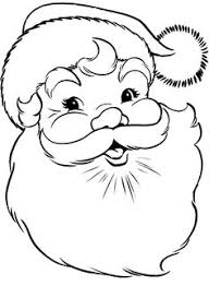 Small Picture Free Printable Santa Face Santa Face Coloring Page Wood