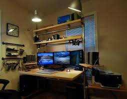 desk lighting ideas. Desk: Astounding 3 Monitor Computer Desk For Dual Photo Details - These Ideas Lighting