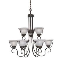 designers fountain galleria 9 light chandelier in oil rubbed bronze 9179 orb photo