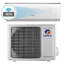 gree livo 12 000 btu 1 ton wi fi programmable ductless mini split air conditioner with inverter heat remote 115v 60hz livs12hp115v1bw the