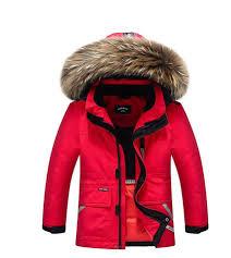 brand new children cold winter down girls thickening warm down jackets boys long big fur hooded