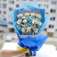 teddy bear bouquet for wedding gift gift valentine gift blue