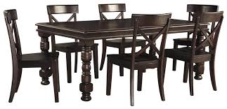 extendable dining room table by signature design by ashley. by signature design ashley. 7-piece solid pine dining table set extendable room ashley