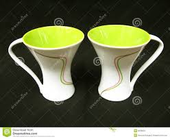 designer coffee mugs stock images  image