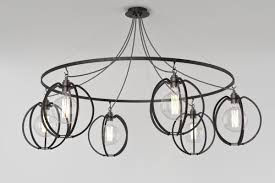 farrier s cage six circle globe chandelier