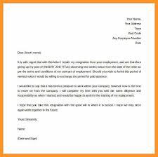 2 Weeks Notice Letter Of Resignation Bio Letter Format