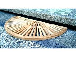 outdoor shower mat bamboo shower mat outdoor shower mat bamboo on sunburst teak half circle with polished finish