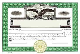Corporate Stock Certificate Template Corpex Definition Microsoft