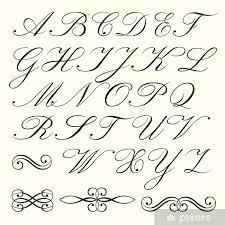 Nálepka Script Abeceda Pixerstick