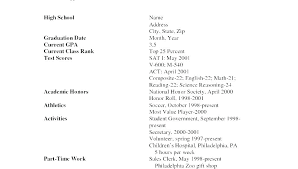 First Resume Samples Mazard Info