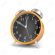 Stock Photo   Stylish Alarm Clock. Isolated On White