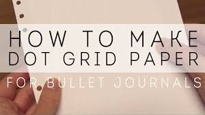 How To Make Graphing Paper In Word How To Make Dot Grid Paper For Bullet Journaling Youtube