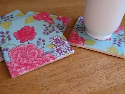 Decorative Tile Coasters Curbly Video Using Paper Napkins to Make Decorative Tile Coasters 29