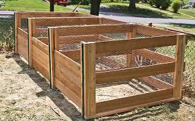 wire wood composting bins