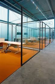 example of concrete floorcarpet junction glass office partition strijkers partition system by lensveltfur eline strijkers office partition designs