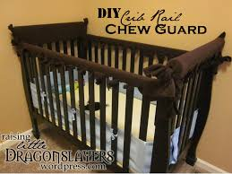 diy crib rail chew guard to protect wood from teething es and vice versa