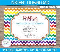 diy party invitations templates free rainbow party invitations template birthday party free