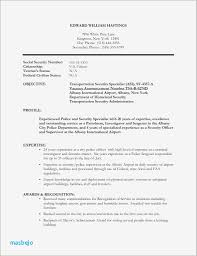 Security Officer Resume Police Ficer Resume Examples Ideas Resume