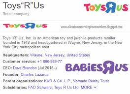 1800 toysrus toys r us babies r us customer service phone number service