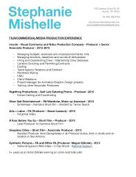 Production Worker Resume Sample From Film Producer Resume Foodcity