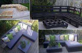crate patio furniture pallet collage wooden outdoor p38 crate