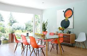 midcentury fireplace mid century modern fireplace dining room with la architecture pops of color dowel leg midcentury fireplace