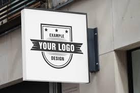 Logo Mock Up Outdoor Logo Sign Mockup Template Mediamodifier Free Online