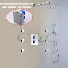 Us 29854 29 Offthermostat Badezimmer Dusche Wasserhahn Set Air Drop Regen Dusche Kopf Einfache Installation Mit Embedded Box 002t 30x20ta F In