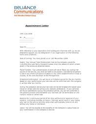 Joining Letter Format For Offer Letter Format Legal