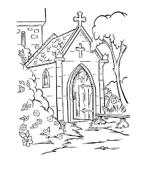 Small Picture BlueBonkers Medieval Churches Coloring Sheets Castle chapel