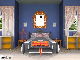 Red Bedroom Bench Marvelous Image Of Blue And Orange Bedroom Decoration Using Blue