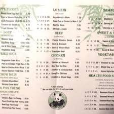 panda kitchen menu
